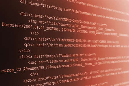 html computer code background showing concept for the internet Stock Photo - 5036487
