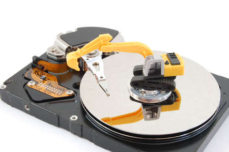 hdd and digger showing concept for computer repair service Stock Photo - 5051683