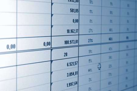 business statistics and data showing financial success Stock Photo - 5051648