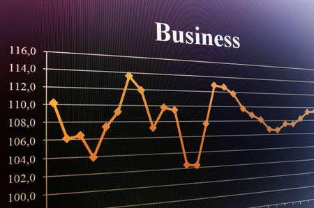 business data and chart showing financial success photo