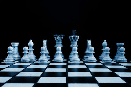 achivement: chess pieces showing power competition conflict and strategy in business