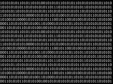 achtergrond van computer van binaire gegevens met 1 en 0