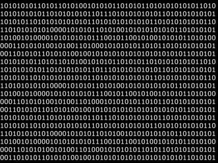 binäre Computer Daten Hintergrund mit 1 und 0