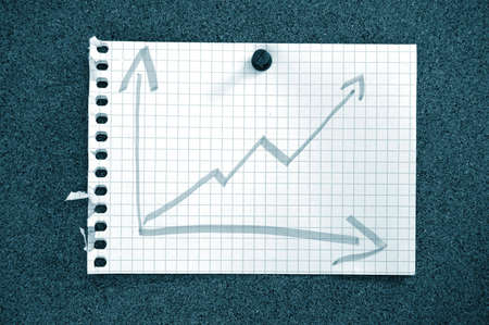 business graph and arrow showing success and growth in business photo