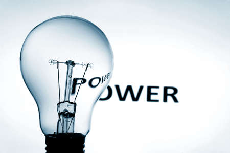 bulb showing concept for electric power and electricity photo