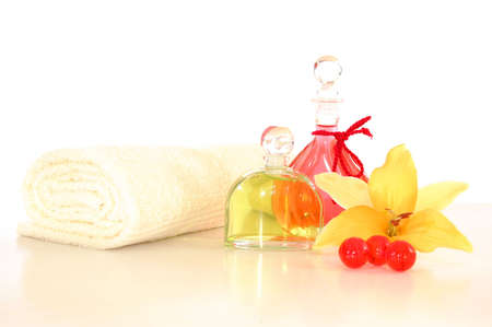 spa or wellness still life isoalted on white background photo