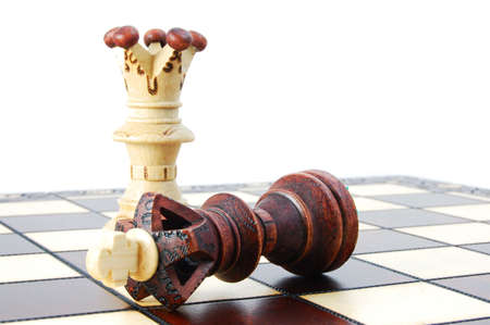 challange: chess pieces showing concept for strategy success and battle in business