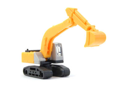 industrie: toy digger showing concept for construction company