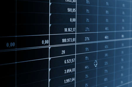 business statistics and data showing financial success Stock Photo - 5132166