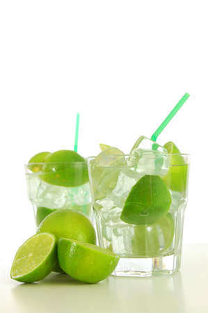 cocktail drink with lime like Caipirinha or mojito                                     Stock Photo - 5140948