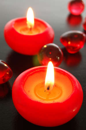 love hot body: love or romance concept with red candles