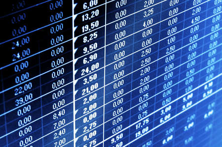 business data and statistics showing financial success Stock Photo - 5205451