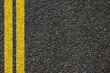 road street or asphalt texture with lines Stock Photo - 5227689
