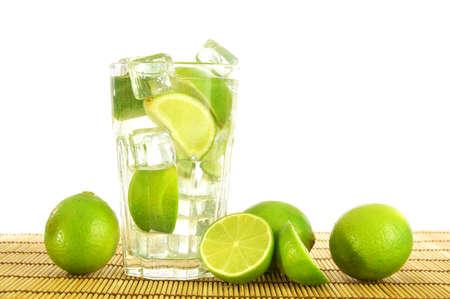 caipirinha: mojito or Caipirinha cocktail drink with lemon