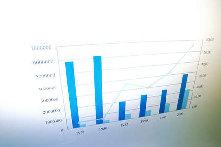 business data and chart showing financial success Stock Photo - 5227761