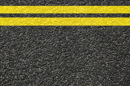 road street or asphalt texture with lines Stock Photo - 5247210