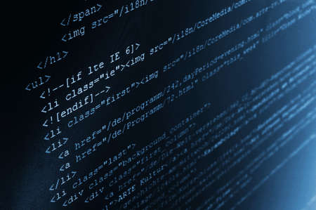 html computer code background showing concept for the internet Stock Photo - 5247234