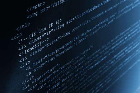 code computer: html de fondo c�digo de computadora que muestra el concepto de Internet Foto de archivo