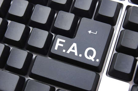 frequently asked questions concept faq written on computer keyboard Stock Photo - 5343931