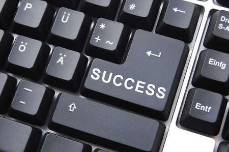online business concept with success butten on computer keyboard Stock Photo - 5343932