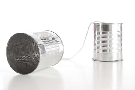 ton can phone showing business communication concept Stock Photo - 5343926