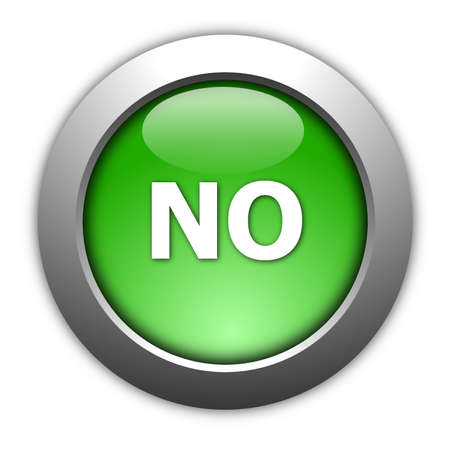 yes no: illustration of yes and no button for internet website