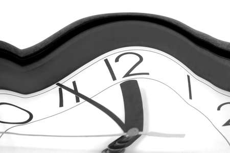 relativity: theory of relativity shown by warped watch