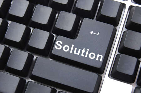 solving a problem with solution button on computer                                   Stock Photo - 5428677