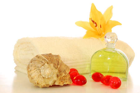 healthy lifestyle shown by spa still life with copyspace Stock Photo - 5428629