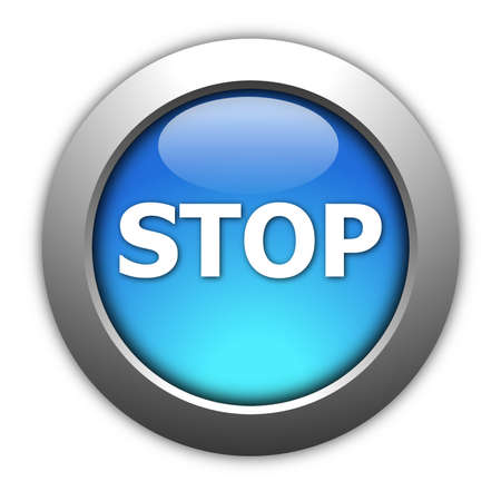 illustration of a stop button on white background Stock Illustration - 5466568
