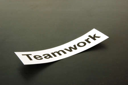 coalition: teamwork concept with copyspace for text message                                     Stock Photo