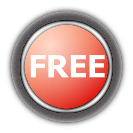bargains: free button cfor internet website isolated on white Stock Photo