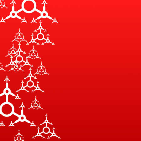 red xmas background with copyspace for text message photo
