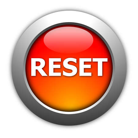 remake: computer reset button illustration isolated on white Stock Photo