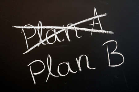 business change: choose an other plan for business success or growth                                     Stock Photo