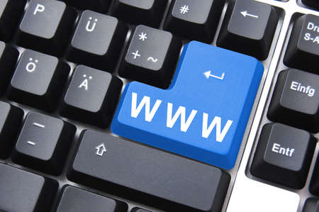 internet or online concept with www on computer keyboard                                     photo