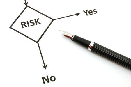 la gestión de riesgos para la inversión empresarial en la oficina de Foto de archivo - 5541211