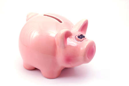save money in yout piggy bank and spend it for real estate                                     photo
