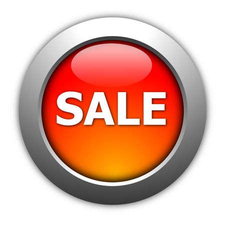 sale button illustration for internet shop or marketing illustration