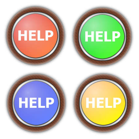help button collection isolated on white background Stock Photo - 5587801