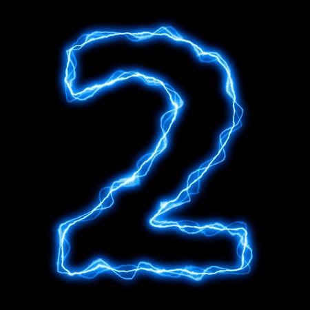 rayo electrico: rayo el�ctrico o fuente flash con letras azules sobre negro