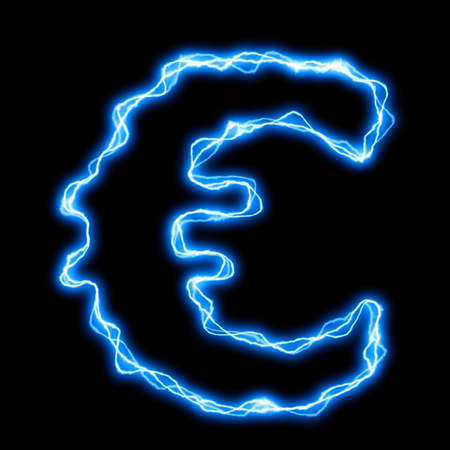 electric lightning or flash font with blue letters on black Stock Photo - 5633728