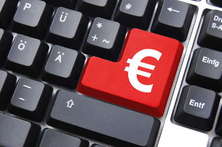 money text on computer keyboard  as concept for internet business Stock Photo - 5659034