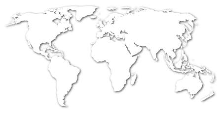 map of the world isolated on white background Stock Photo - 5658973
