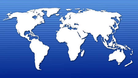 global economy concept with world map in blue Stock Photo - 5658936