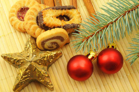 tabel: christmas cookies still life showing xmas concept                                     Stock Photo