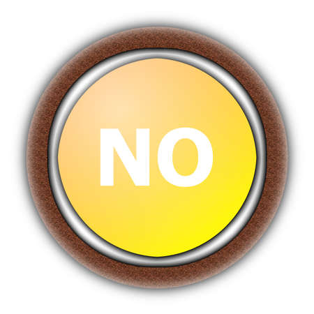 yes and no button isolated on white background photo