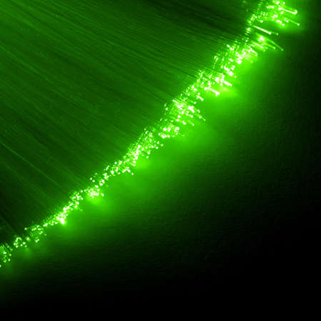 fiberoptic: cable of fiber optics showing technology or communication concept