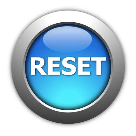 computer reset button illustration isolated on white Stok Fotoğraf