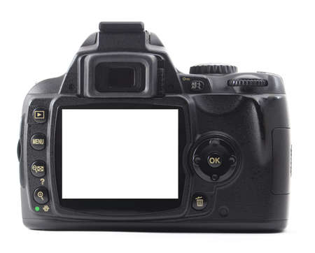 slr cameras: dslr camera with copyspace for text or photo
